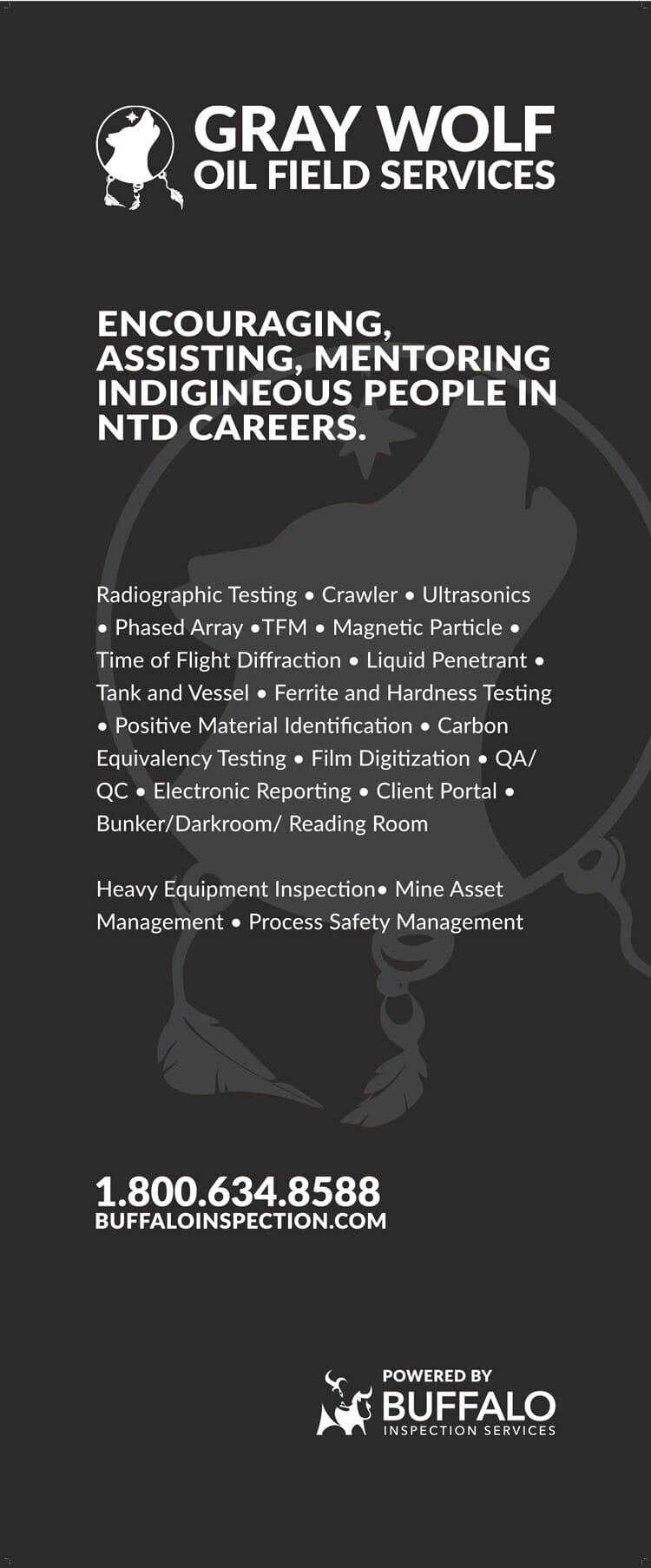 Gray Buffalo NDT inspection services listed.